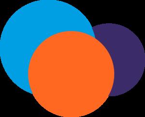 Ensemble de rond orange bleu et violet4